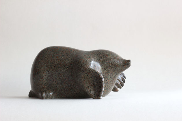 Mole sculpture in soapstone