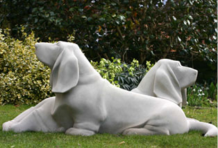 Basset Hound Sculpture