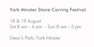 York Minster Stone Carving Festival dates