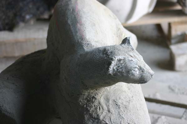Stone carving progress