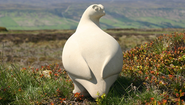 Red Grouse Sculpture