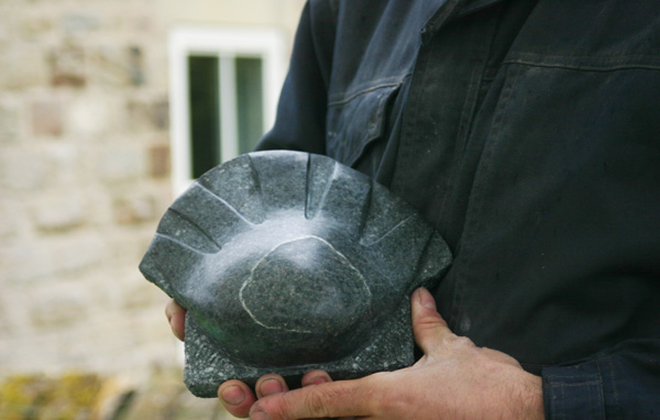 Shell stone sculpture