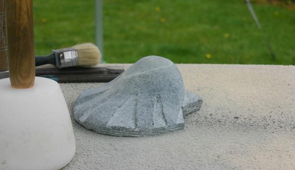 Shell stone sculpture