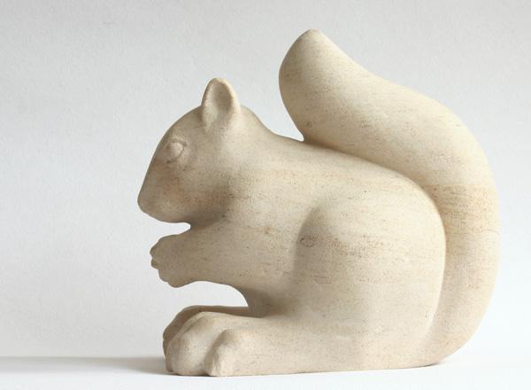 Squirrel sculpture