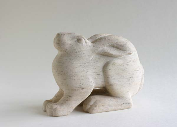 Hare stone sculpture