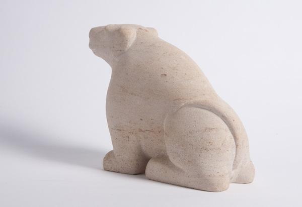 Sitting Dog sculpture