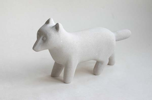 White Fox sculpture