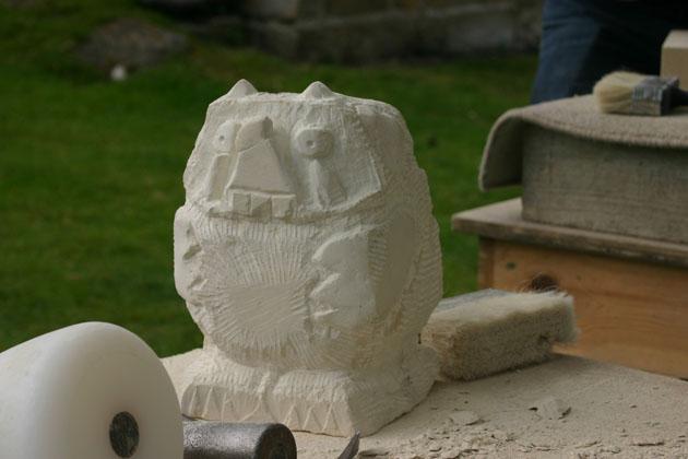 Gruffalo stone carving