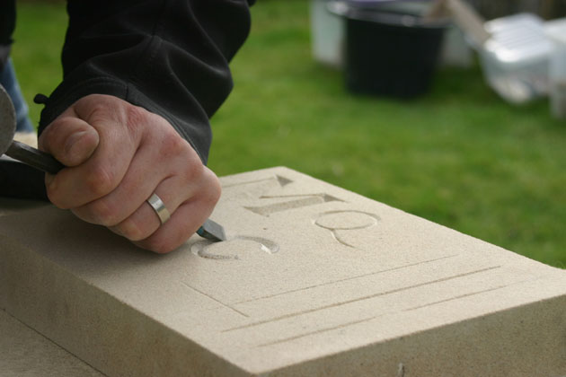 lettering in stone