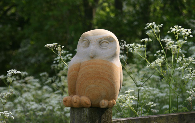 Tawny owl chick carving