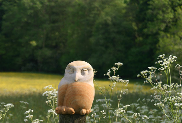 Tawny Owl Chick sculpture