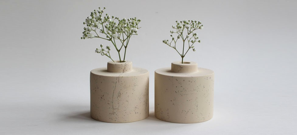 Cadeby Vases Small Stone Vases Carved In A Pale Yellow Limestone