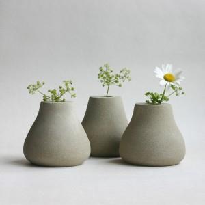 Teardrop stone vases