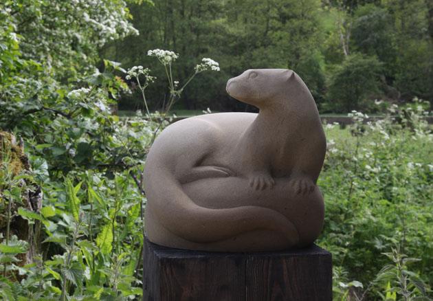 Otter sculpture in Sandstone