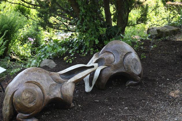 Badgers sculpture by David Cooke