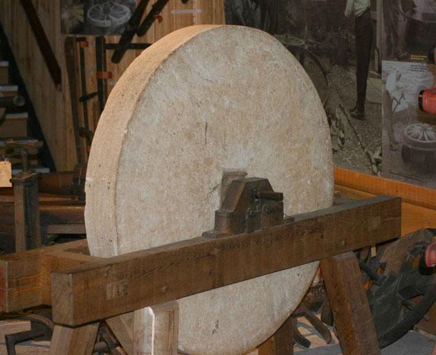 Stone knife sharpening wheel