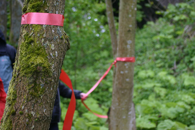 Opening the sculpture trail