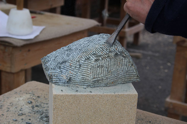 Soapstone carving at the Rural Arts workshop