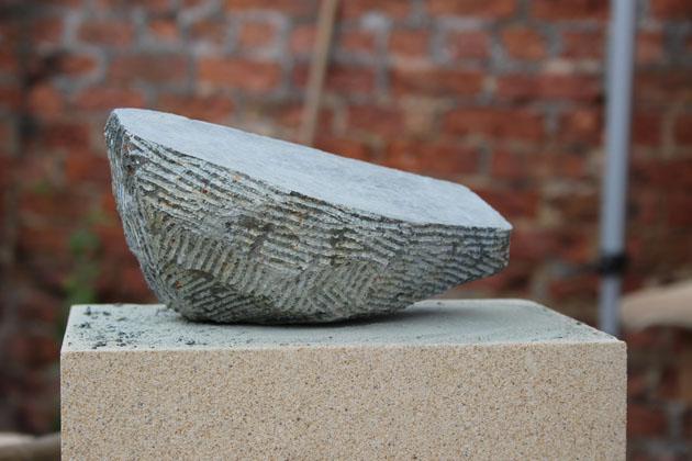 Soapstone sculpture progress at Rural Arts workshop