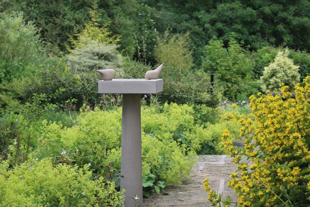 Tall Birdbath in Yorkstone