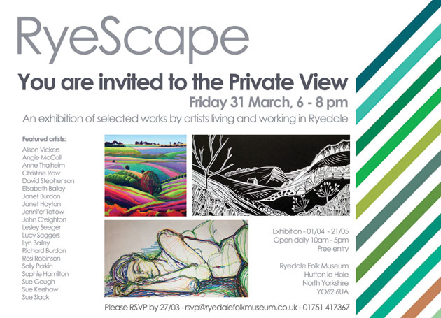 Your invitation to the Private View - RyeScape Exhibition
