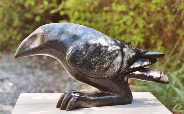 Raven Stone Sculpture