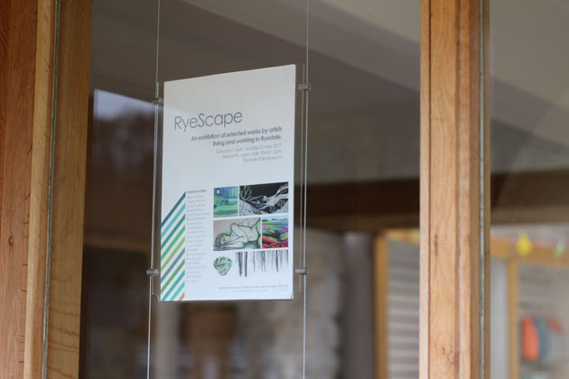 poster for RyeScape Exhibition at Ryedale Folk Museum