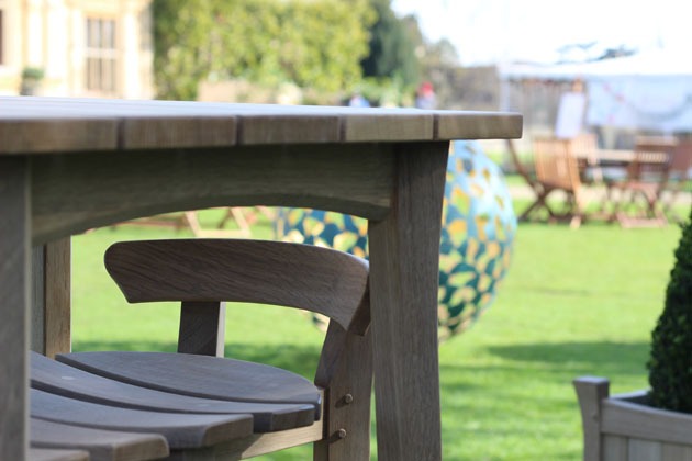 Gaze Burvill furniture at Gardens Illustrated Festival