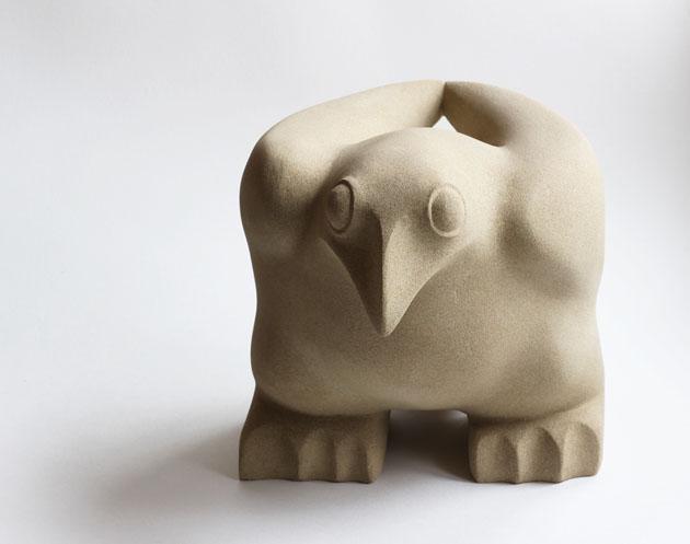 Ground Bird sculpture by Jennifer Tetlow