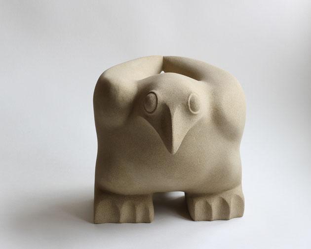 Ground Bird stone sculpture