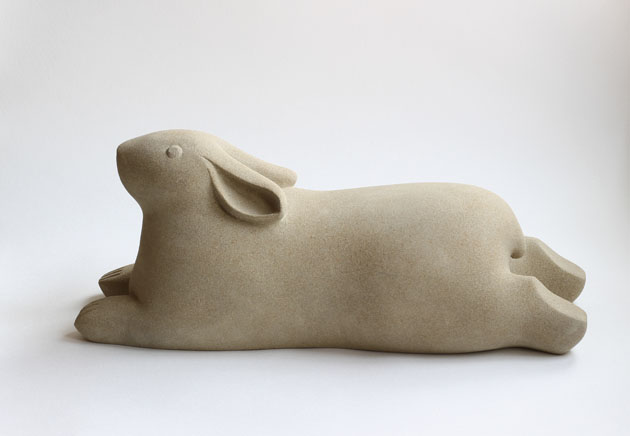 Recumbent Rabbit sculpture