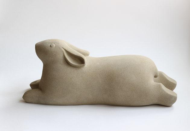 Recumbent Rabbit sculpture