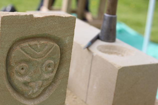 Tiki and Barbara Hepworth inspired sculpture