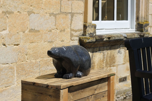 Badger stone sculpture