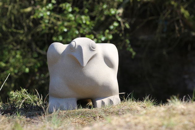 Ground Bird stone sculpture