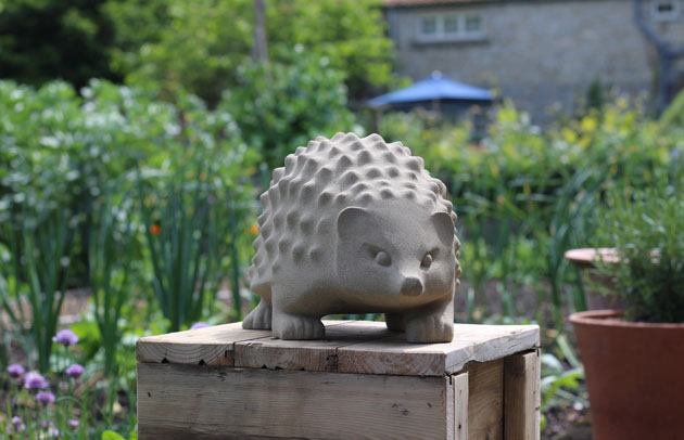 Hedgehog at Nunnington Hall sculpture exhibition