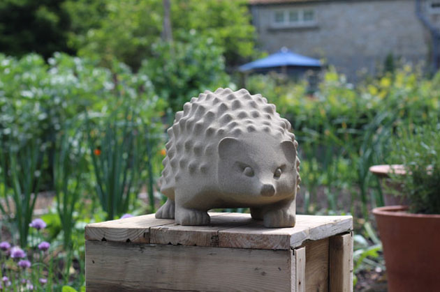 Hedgehog stone sculpture