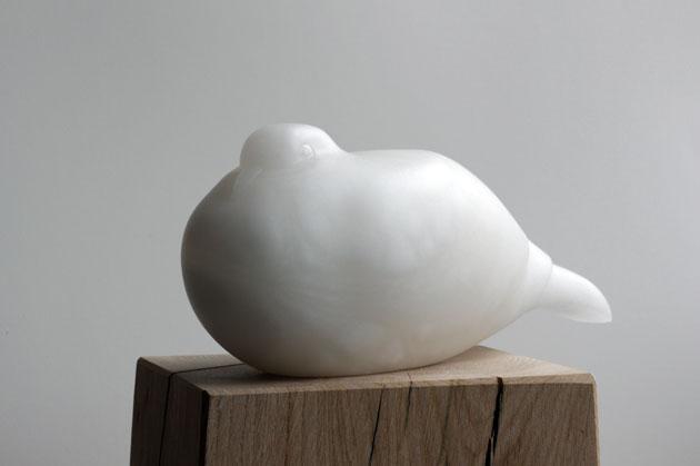 Alabaster Dove sculpture