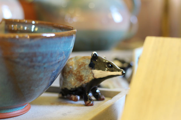 Ceramic Badger by Helen Pickard