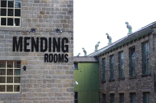 Mending rooms at Sunny Bank Mills