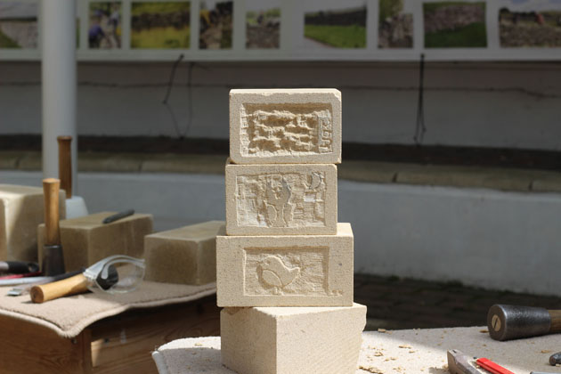 Stone carving relief panels