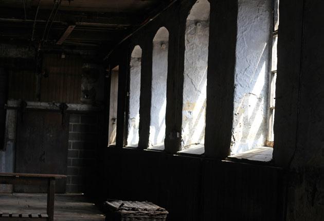 empty room at Sunny Bank Mills