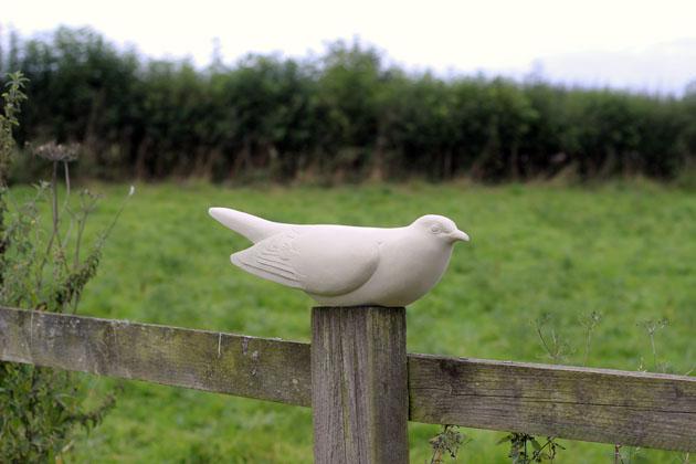 Cuckoo stone sculpture