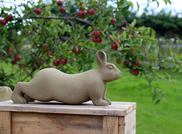 Stretchy Rabbit sculpture