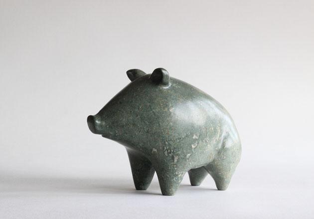 Wild Pig stone sculpture