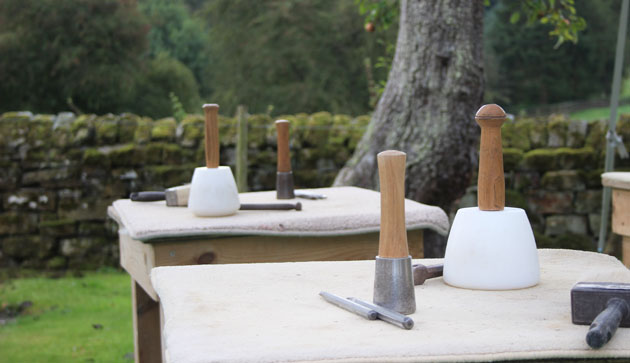 All set up for the stone carving course