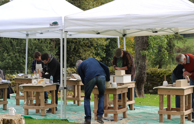 Autumn 2017 stone carving course in Lastingham