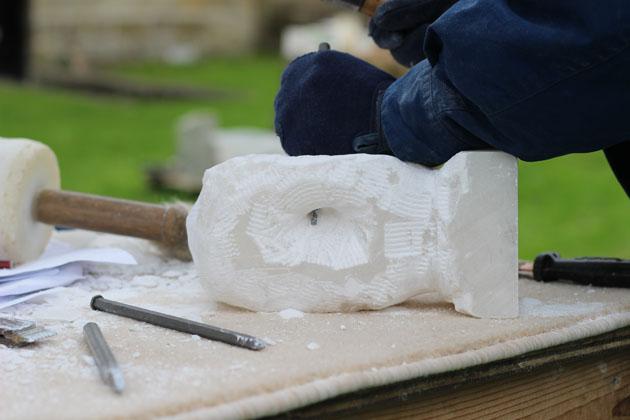 Carving alabaster