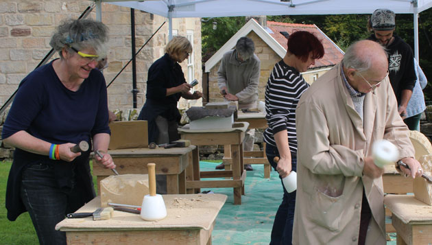 Stone carving course Autumn 2016