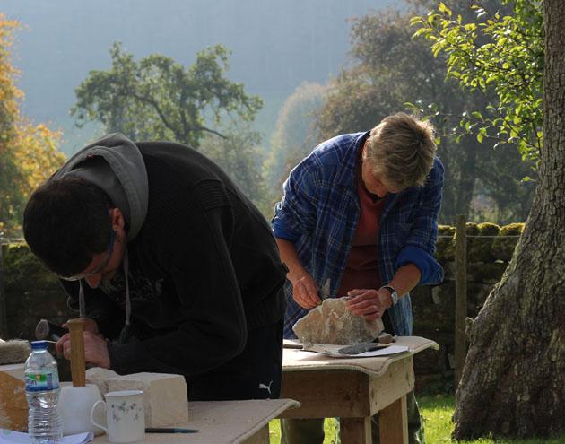 Stone carving in Lastingham